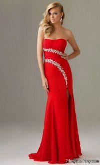 long red strapless prom dresses 2016-2017 | B2B Fashion