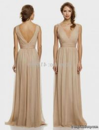 long tan lace bridesmaid dresses 2016-2017 | B2B Fashion