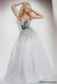 long white and silver prom dresses 2016-2017 | B2B Fashion