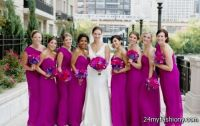 Magenta Bridesmaid Dresses
