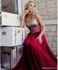 Maroon and Gold Prom Dress 2016-2017  B2B Fashion