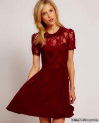 maroon bridesmaid dress 2016-2017 | B2B Fashion
