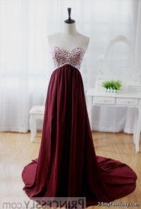 maroon chiffon prom dress 2016-2017 | B2B Fashion