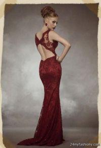 maroon lace prom dresses 2016-2017 | B2B Fashion