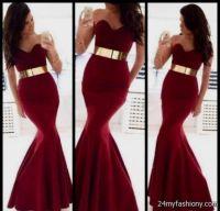 maroon prom mermaid dresses 2016-2017 | B2B Fashion