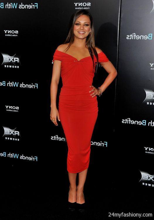 mila kunis red dresses looks  B2B Fashion