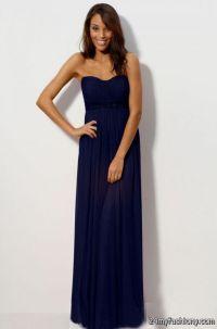 Dark Blue Chiffon Bridesmaid Dresses | www.pixshark.com ...