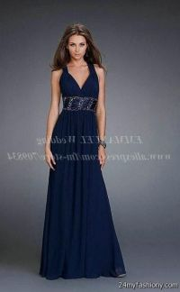 navy blue prom dresses with straps 2016-2017 | B2B Fashion