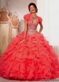 neon coral quinceanera dresses 2016-2017 | B2B Fashion