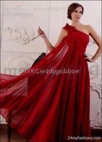 one shoulder dark red prom dresses 2016-2017 | B2B Fashion