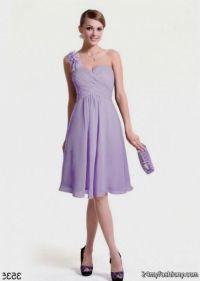 one shoulder lavender bridesmaid dresses 2016-2017 | B2B ...