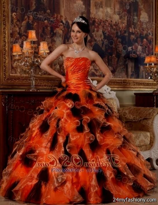 orange and black quinceanera dresses 2016-2017 » B2B Fashion