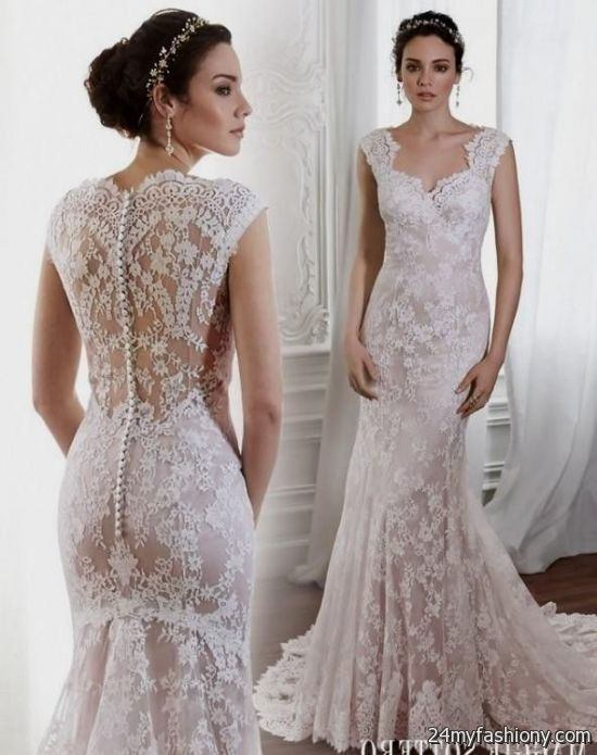 pale pink lace wedding dress 2016-2017 » B2B Fashion