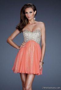 peach short prom dresses 2016-2017 | B2B Fashion