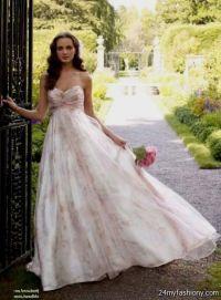 pink floral bridesmaid dresses 2016-2017 | B2B Fashion