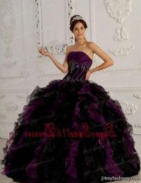 purple and black dresses for sweet 16 2016-2017 | B2B Fashion
