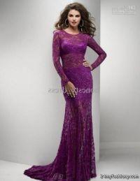 purple lace mermaid prom dresses 2016