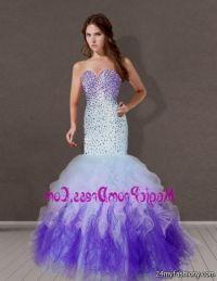 purple mermaid prom dresses 2016