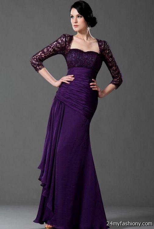 purple mother of the bride dresses floor length 2016