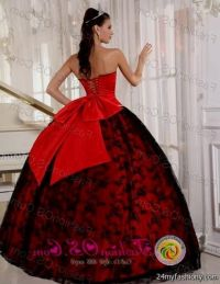 quinceanera dresses red and black and gold 2016-2017 | B2B ...