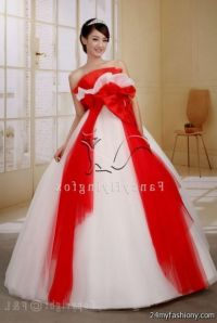 quinceanera dresses red and white puffy 2016-2017 | B2B ...