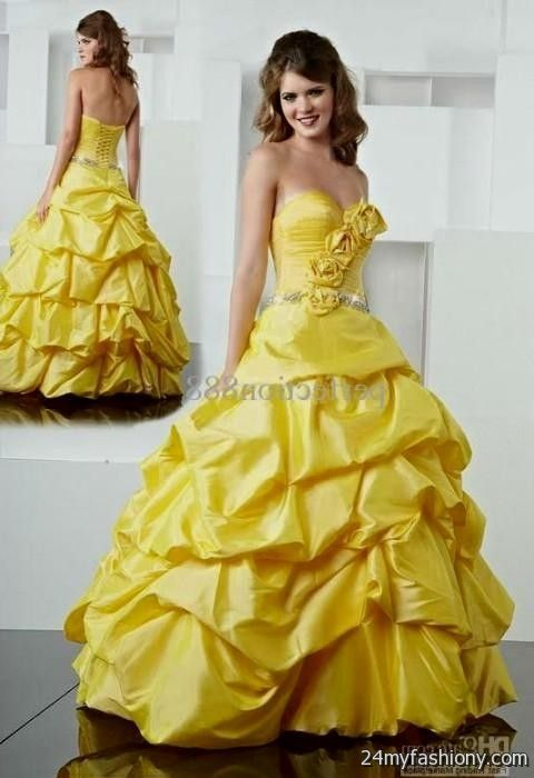 quinceanera dresses yellow belle 20162017  B2B Fashion