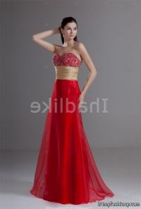 Red And Gold Wedding Bridesmaid Dresses - Wedding Dresses ...