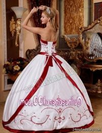 red and white quinceanera dress 2016-2017 | B2B Fashion