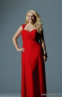 red bridesmaid dresses with sleeves plus size 2016