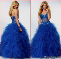 royal blue lace bridesmaid dress 2016-2017 | B2B Fashion