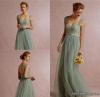 sage green bridesmaid dresses 2016-2017 | B2B Fashion