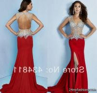 sexy red prom dresses open back 2016-2017   B2B Fashion