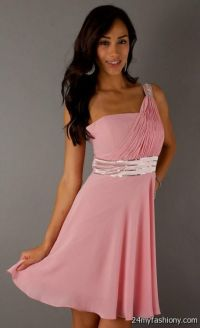 Light Pink Bridesmaid Dresses Short - Junoir Bridesmaid ...