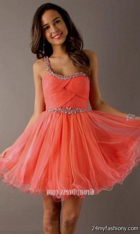 short orange prom dresses with straps 2016-2017 » B2B Fashion