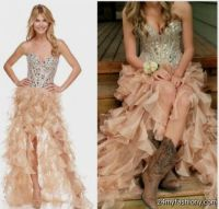 short prom dress with cowboy boots 2016-2017 | B2B Fashion