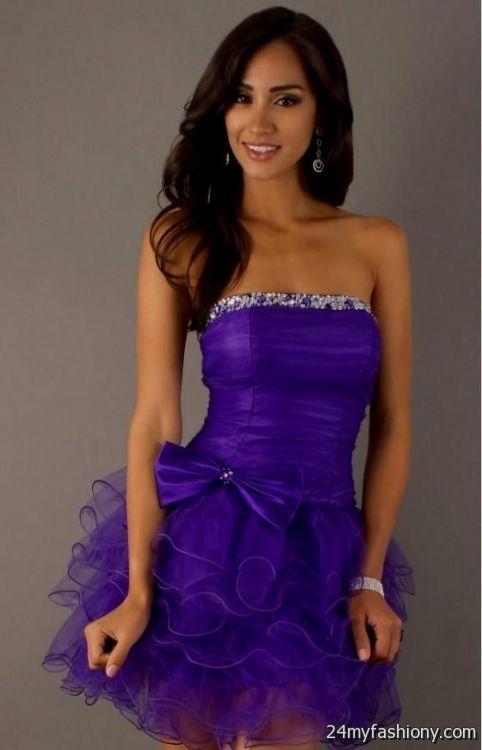 short strapless purple dresses for teenagers 2016-2017 » B2B Fashion