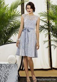 silver lace bridesmaid dress 2016-2017 | B2B Fashion