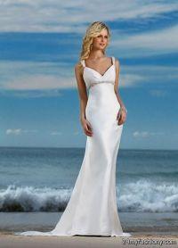 simple beach wedding dresses with sleeves 2016-2017 | B2B ...