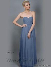 steel blue bridesmaid dress 2016-2017 | B2B Fashion