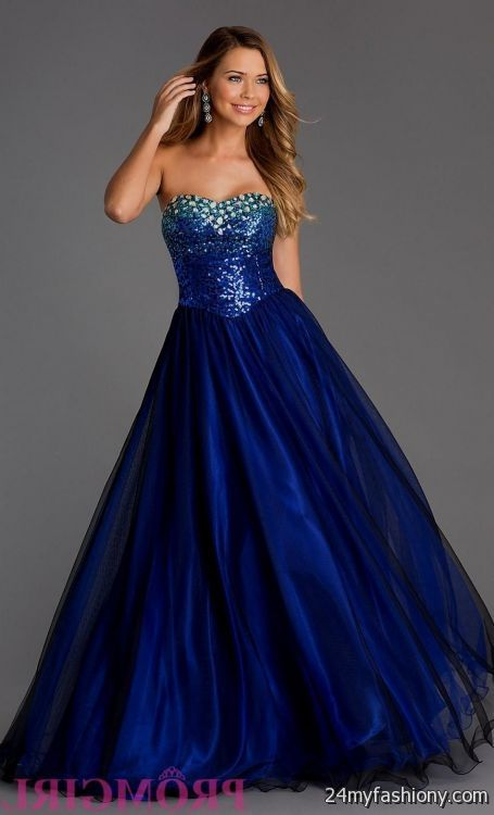 Cobalt Blue Prom Dress
