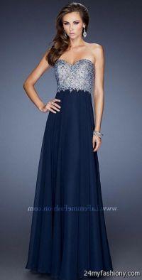 strapless navy blue prom dresses 2016-2017 | B2B Fashion