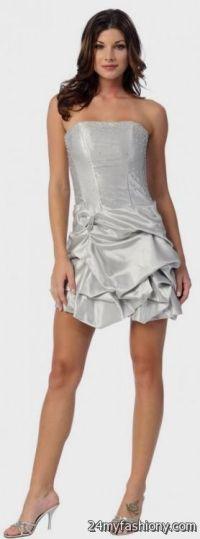 strapless silver dama dresses 2016-2017 | B2B Fashion