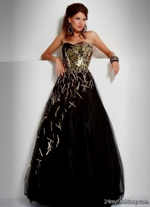 sweet 16 dresses black and gold looks  B2B Fashion