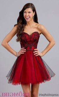 sweet 16 dresses red and black short 2016-2017 | B2B Fashion