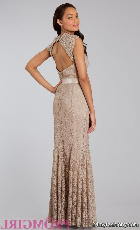 taupe lace prom dress 2016-2017 » B2B Fashion