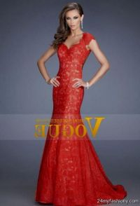 vintage style red lace prom dress 2016-2017 | B2B Fashion