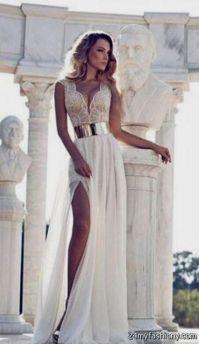 white and gold prom dresses tumblr 2016-2017 | B2B Fashion