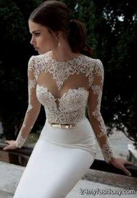white elegant lace prom dresses 2016-2017 | B2B Fashion