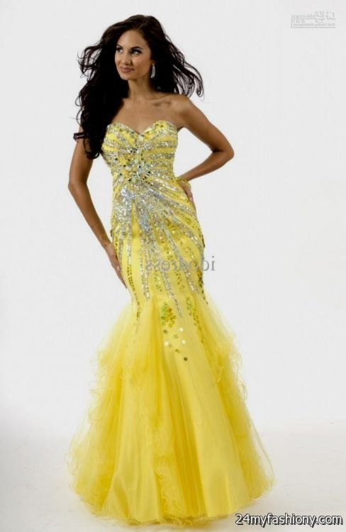 yellow mermaid wedding dress 2016-2017 » B2B Fashion