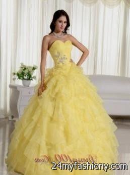 yellow puffy quinceanera dresses 2016-2017 » B2B Fashion